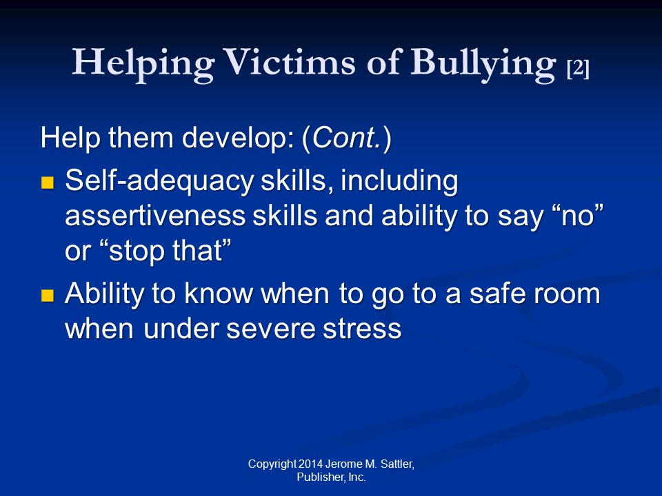 Helping Victims of Bullying [2]